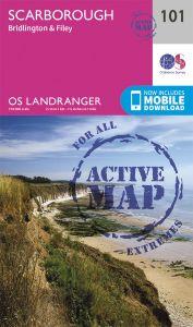 OS Landranger Active - 101 - Scarborough, Bridlington & Filey