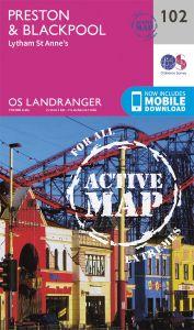OS Landranger Active - 102 - Preston & Blackpool, Lytham