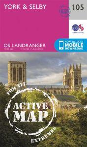 OS Landranger Active - 105 - York & Selby