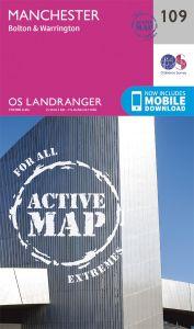 OS Landranger Active - 109 - Manchester, Bolton & Warrington