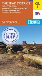 OS Explorer Active - 1 - The Peak District Dark Peak area