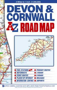 A-Z Road Map - Devon & Cornwall