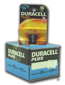 Duracell Plus Power Batteries - 9V - Box Of 10 Packets (15)