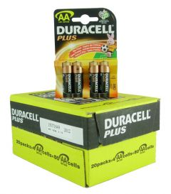 Duracell Plus Power Batteries - AA - Box Of 20 (12)