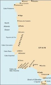 Imray C Chart - Cape Finisterre to Gibraltar (C19)