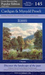 Cassini Popular Edition - Cardigan & Mynydd Preseli (1922-1923)