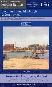 Cassini Popular Edition - Saxmundham & Aldeburgh (1920-1921)