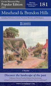 Cassini Popular Edition - Minehead & Brendon Hills (1919)