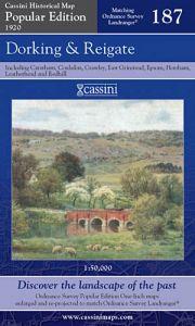 Cassini Popular Edition - Dorking & Reigate (1920)
