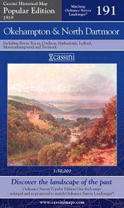Cassini Popular Edition - Okehampton & North Dartmoor (1919)