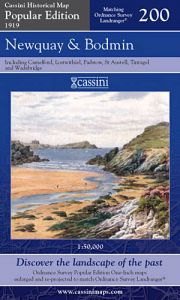 Cassini Popular Edition - Newquay & Bodmin (1919)