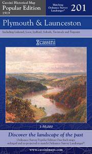 Cassini Popular Edition - Plymouth & Launceston (1919)