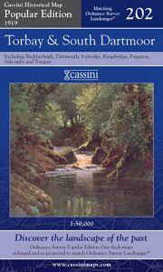 Cassini Popular Edition - Torbay & South Dartmoor (1919)