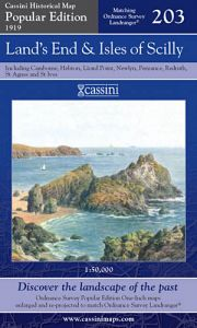 Cassini Popular Edition - Land's End & Isles of Scilly (1919)
