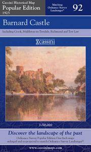 Cassini Popular Edition - Barnard Castle (1925)