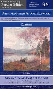 Cassini Popular Edition - Barrow-in-Furness & South Lakeland (1924