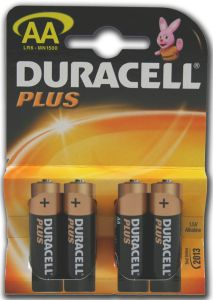 Duracell Plus Power Batteries - AA - Single Pack (4)