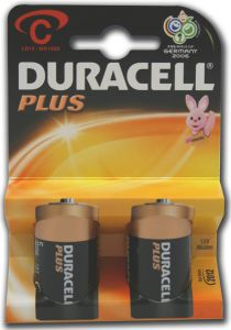 Duracell Plus Power Batteries - C - Single Pack (2)