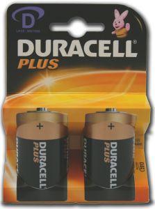 Duracell Plus Power Batteries - D - Single Pack (2)