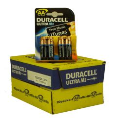 Duracell Ultra Power Batteries - AA - Box Of 20 Packets (2)