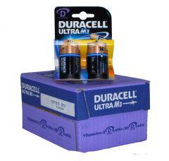 Duracell Ultra Power Batteries - D - Box Of 10 Packets (4)
