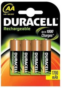 Duracell Rechargable Batteries (1700mAh) - AA - Single Pack (4)