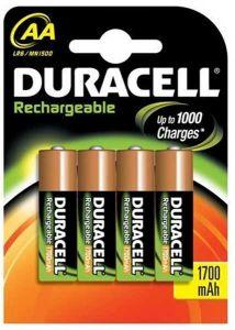 Duracell Rechargable Batteries (1700mAh) - AA - Single Pack (4)