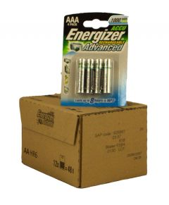 Energizer Rechargable Batteries (850mAh) - AAA - Box Of 12 Packets