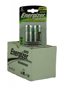 Energizer Rechargable Batteries (2500mAh) - C - Box Of 6 (32)