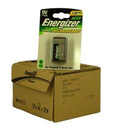 Energizer Rechargable Batteries (175mAh) - 9V - Box Of 6 Packets