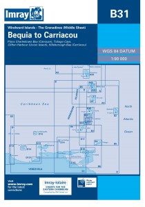 Imray B Chart - Grenadines - Bequia to Carriacou (B31)
