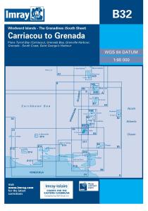 Imray B Chart - Grenadines - Carriacou to Grenada (B32)