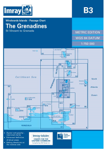 Imray B Chart - Grenadines - St Vincent To Grenada (B3 )