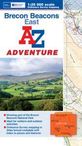 A-Z Adventure Atlas - Brecon Beacons East