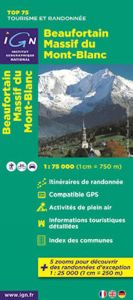 IGN Top 75 - Beaufortin Massif du Mont Blanc