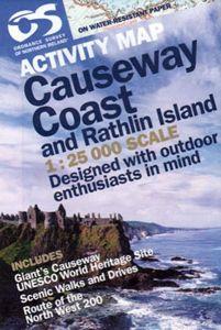 OS Northern Ireland Activity Map - Causeway Coast & Rathlin Island