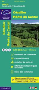 IGN Top 75 - Cezallier / Monts du Cantal