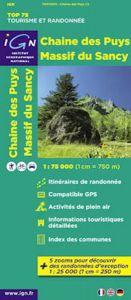 IGN Top 75 - Chaine des Puys - Massif du Sancy