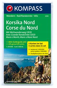 Kompass Maps - Corsica North 2250 GPS (3-Set)