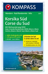 Kompass Maps - Corsica South 2251 GPS (3-Set)