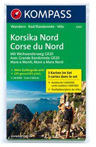 Kompass Maps - Corsica North 2250 GPS (3-Set)
