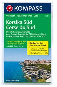 Kompass Maps - Corsica South 2251 GPS (3-Set)