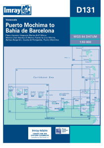 Imray D Chart - Porto Mochima To Bahia De Barcelona (D131)
