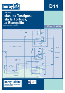 Imray D Chart - Isla Tos Testigos, La Tortuga & La Blanquilla (D14)