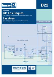 Imray D Chart - Isla Los Roques & Isla De Aves (D22)