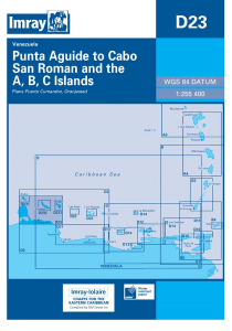 Imray D Chart - Punta Aguide To Cabo San Roman & A.B.C Islands (D23)
