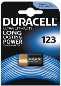 Duracell Ultra Lithium Batteries - CR123A - Box Of 10 Packets (10)