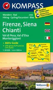 Kompass Maps - Firenze - Siena Chianti 2458 GPS
