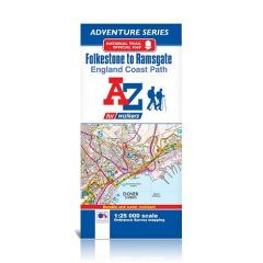 A-Z Adventure Atlas - Folkestone To Ramsgate, England Coast Path