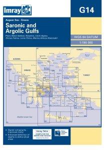 Imray G Chart - Saronic & Argolic Gulf (G14)